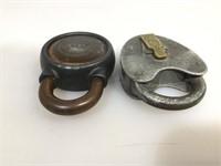 Pair of vintage locks without keys