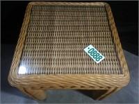 Wicker Side Table