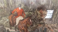 """A Day with the fox hounds"" hunting scene print"