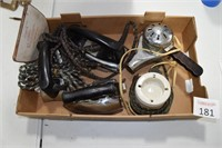 Vintage Electric Irons & Hair Dryer