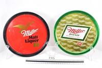(2) Miller Beer Trays