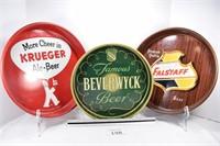 Beverwyck, Krueger & Falstaff Beer Trays