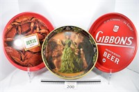 Dixie, Gibbsons & Budweiser Beer Tray