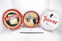 Scheidt's, Topper & Koehler's Beer Trays