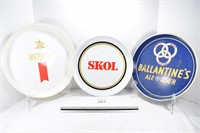 Skol, Ballantine's & Michelob Beer Trays