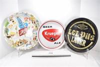 Kreger & LCL Pils & Schlitz Beer Trays