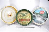 Falstaff, Pearl & Yusay Pilsen Beer Trayss