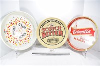 Columbia, Scotch & Busch Beer Trays