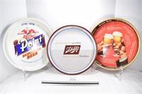 Point, Grain Belt & Schlitz Beer Trays