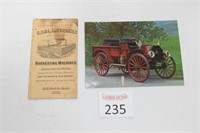 mccormick Harvester Ad. & IH Car Post Card