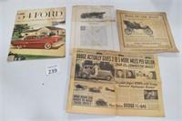 Vintage Car Advertising