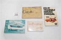 Vintage Chevy & Pontiac Owner's Manuals