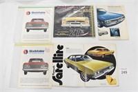 Chrysler & Studebaker Sales Brochures