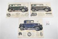 Vintage Chevrolet Car Advertisements