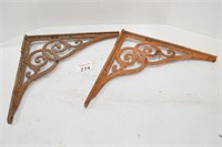 Antique Metal Shelf Brackets