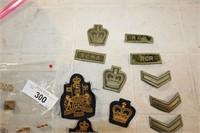 VARIOUS MILITARY BADGES & PINS