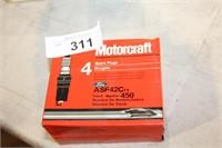 2 PKG MOTORCRAFT ASF42C SPARK PLUG (4EA)