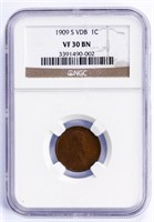 Coin 1909-S VDB Lincoln Cent  NGC VF 30 BN