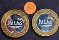 LIMITED EDITION .999 SILVER PALMS GAMING TOK (160)