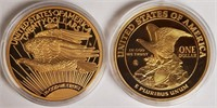LADY LIBERTY & EAGLE REPLICA GOLD LAYERED COINS(9)