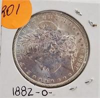 """1882 """"O"""" - MORGAN SILVER DOLLAR (201)"""