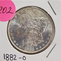 """1882 """"O"""" - MORGAN SILVER DOLLAR (202)"""