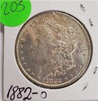 """1882 """"O"""" - MORGAN SILVER DOLLAR (203)"""