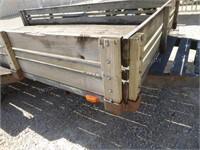 12' 2 wheel trailer w/ hand wench