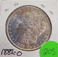 """1882 """"O"""" - MORGAN SILVER DOLLAR (205)"""