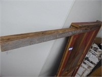 "Barn board headboard 65"""