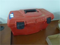 Tool box w/misc. electrical supplies