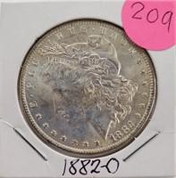 """1882 """"O"""" - MORGAN SILVER DOLLAR (209)"""