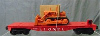 NMINT Lionel 6816 Flat with Dozer & Insert