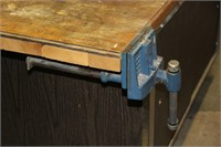 Large Work Bench/Table w/Vise & Storage
