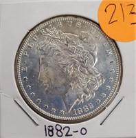 """1882 """"O"""" - MORGAN SILVER DOLLAR (21"""