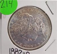 """1882 """"O"""" - MORGAN SILVER DOLLAR (214)"""