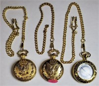 LOT OF 3 BEAUTIFUL POCKET WATCHES (4c)