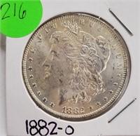 """1882 """"O"""" - MORGAN SILVER DOLLAR (216)"""