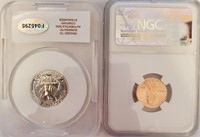 LOT OF 2 GRDED COINS - SEE PICS (205)