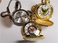 LOT OF 3 BEAUTIFUL POCKET WATCHES (2c)