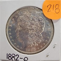 """1882 """"O"""" - MORGAN SILVER DOLLAR (218)"""