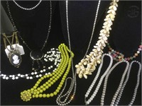Lot of 10 costume jewelry necklaces