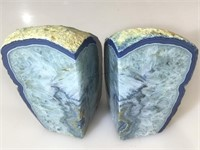 Pr polished grande bookends , 6.5 inches H.