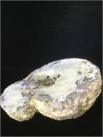 Geode 1/2. Polished , 8 inches across