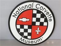 Corvette tin sign, Round Corvette Museum