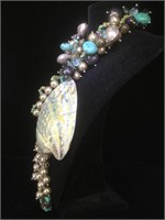 Guilian  design Chunky necklace with abalone and