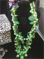 3 Designer Chunky Necklaces , in Cheetah decor