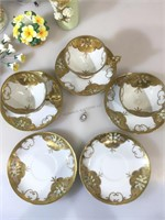 Vintage china inc Carleton cup and saucer sets,