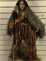 Timeless Native American porcelan doll , LE