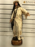 Collectors Series Porcelain Doll , wood stand